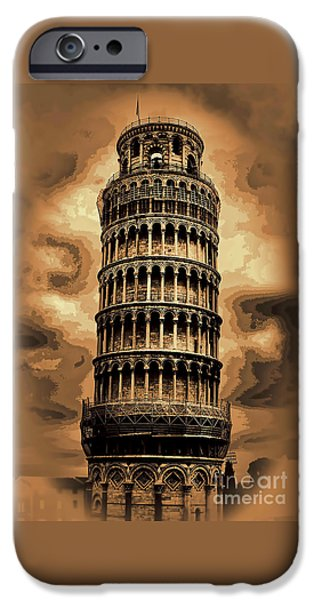 The Duomo iPhone Cases - The Leaning tower of Pisa iPhone Case by Tom Prendergast
