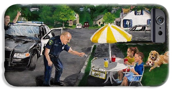 Police Cruiser iPhone Cases - The Lemonade Stand iPhone Case by Jack Skinner