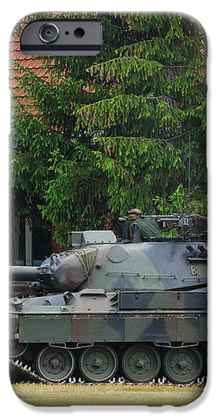 The Leopard 1a5 Main Battle Tank In Use iPhone Case by Luc De Jaeger