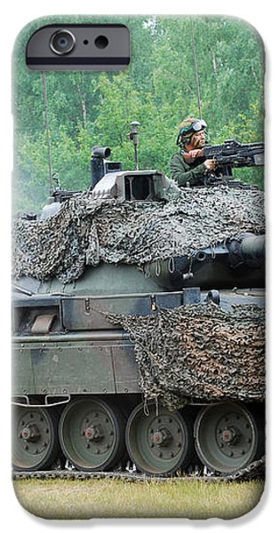 The Leopard 1a5 Main Battle Tank iPhone Case by Luc De Jaeger