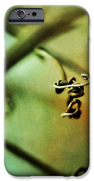 Tendrils iPhone Cases - The Letter T iPhone Case by Rebecca Sherman