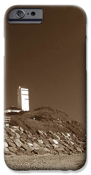 THE LIGHT AT MONTAUK POINT iPhone Case by Skip Willits