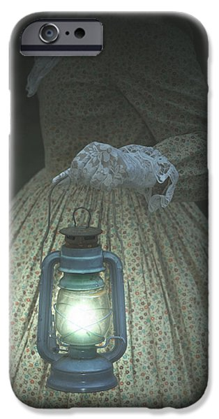 Night Lamp iPhone Cases - The Light iPhone Case by Joana Kruse