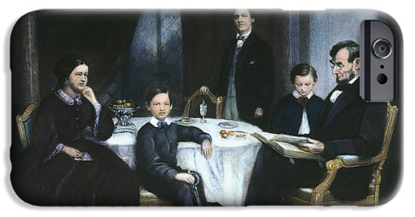 America First Party iPhone Cases - The Lincoln Family iPhone Case by Granger