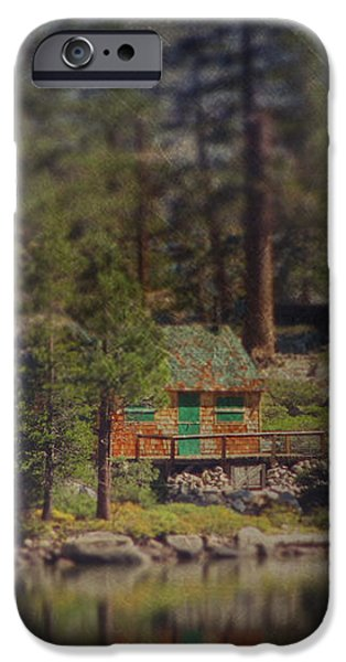 The Little Cabin iPhone Case by Laurie Search