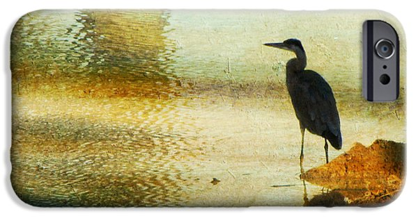 Fowl iPhone Cases - The Lonely Hunter II iPhone Case by Amy Tyler