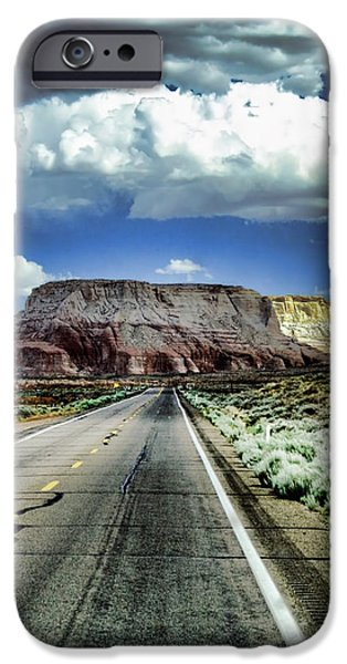 The Long and Lonely Road iPhone Case by Ellen Heaverlo