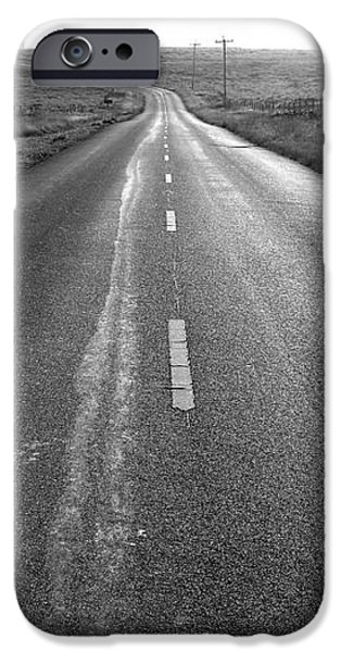 The Long Road Home . 7D9903 . Black and White iPhone Case by Wingsdomain Art and Photography