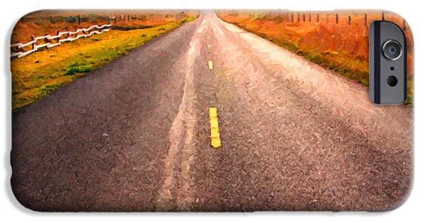 Philosophical iPhone Cases - The Long Road Home . Painterly Style iPhone Case by Wingsdomain Art and Photography