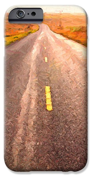 The Long Road Home . Painterly Style iPhone Case by Wingsdomain Art and Photography