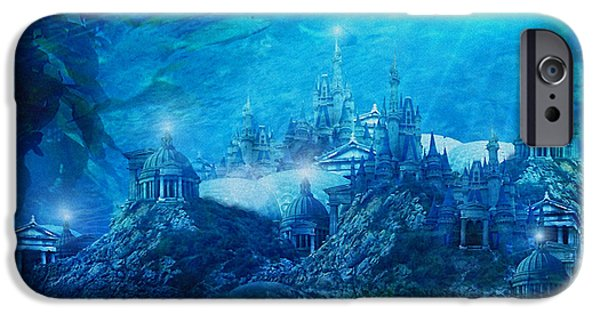 Atlantis iPhone Cases - The Lost City iPhone Case by Karen H