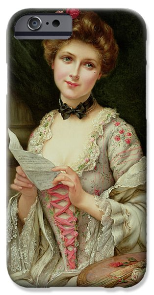 Recently Sold -  - Beauty Mark iPhone Cases - The Love Letter iPhone Case by Francois Martin-Kayel