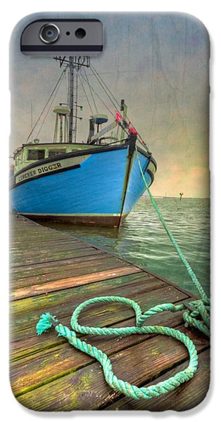 Crabbing iPhone Cases - The Lurcher Digger iPhone Case by Debra and Dave Vanderlaan