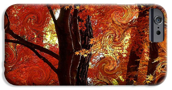 Abstract Digital iPhone Cases - The Magic of Autumn - Digital Abstract iPhone Case by Carol Groenen