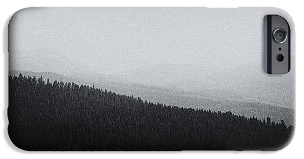 Monotone iPhone Cases - The Magical Selkirk Mountains iPhone Case by David Patterson