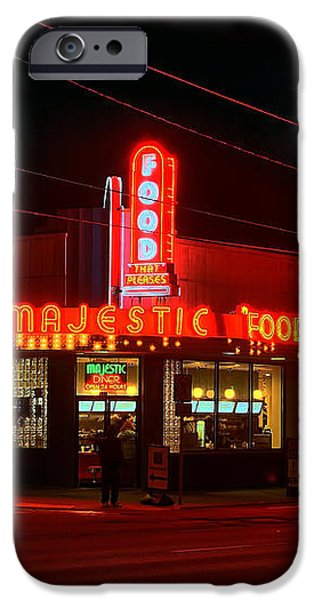 The Majestic Diner iPhone Case by Corky Willis Atlanta Photography