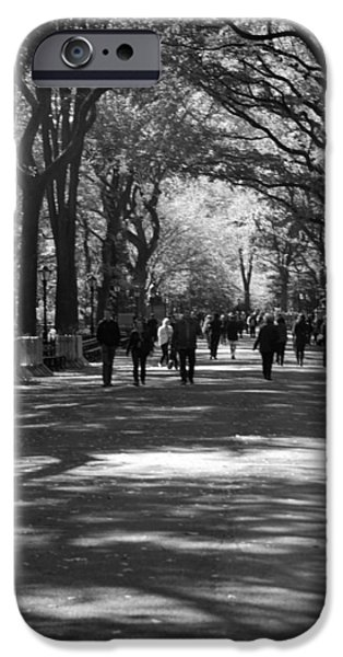 THE MALL at CENTRAL PARK iPhone Case by ROB HANS