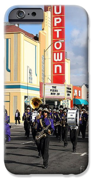 Marching Band Photographs iPhone Cases - The Marching Band at The Uptown Theater in Napa California . 7D8925 iPhone Case by Wingsdomain Art and Photography