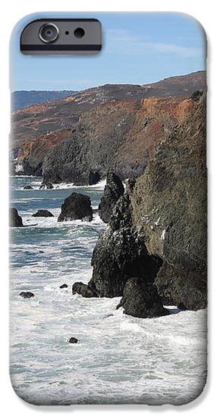 The Marin Headlands - California Shoreline - 5D19692 iPhone Case by Wingsdomain Art and Photography