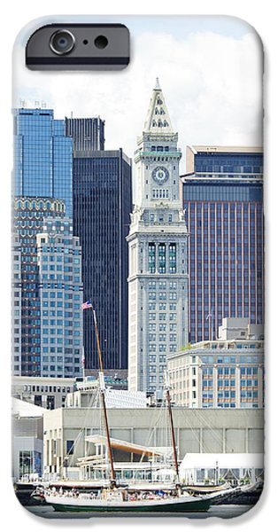 Financial Interest iPhone Cases - The Marriott Custom House Tower Viewed iPhone Case by Charles Knox