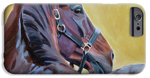 Horse Racing iPhone Cases - The Masters iPhone Case by Anne West
