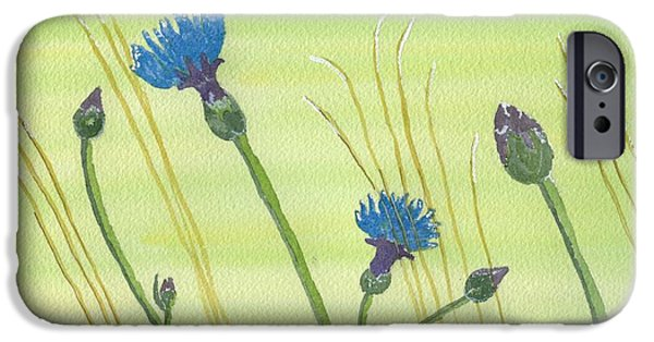 Meadow Drawings iPhone Cases - The Meadow iPhone Case by Eva Ason