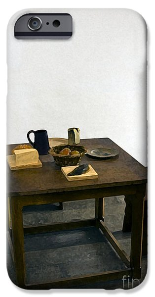 Old Digital Art iPhone Cases - The Meal iPhone Case by Ron Telford
