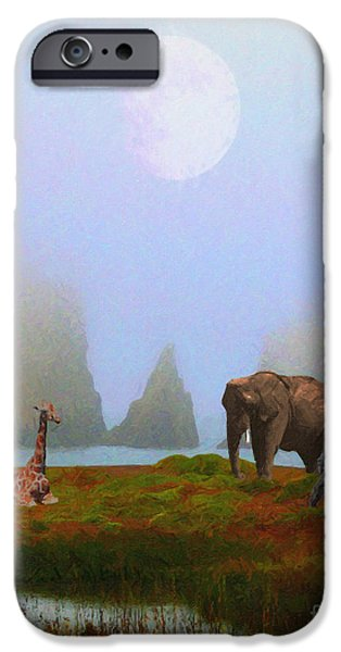 Wingsdomain iPhone Cases - The Menagerie . Painterly iPhone Case by Wingsdomain Art and Photography