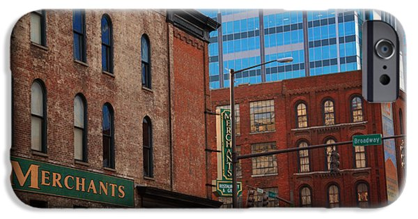Buildings In Nashville iPhone Cases - The Merchants Nashville iPhone Case by Susanne Van Hulst