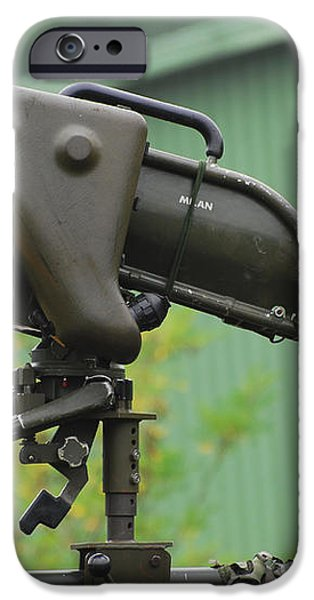 The Milan, Guided Anti-tank Missile iPhone Case by Luc De Jaeger