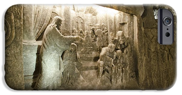 Miracle iPhone Cases - The Miracle at Cana in Galilee - Wieliczka Salt Mine iPhone Case by Jon Berghoff