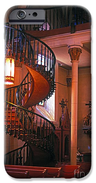 Miracle Photographs iPhone Cases - The Miracle Stairs of Santa Fe iPhone Case by Paul W Faust -  Impressions of Light