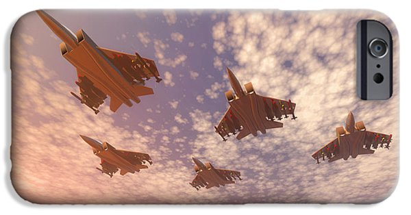 Memorial Day Digital Art iPhone Cases - The missing man formation. iPhone Case by Carol and Mike Werner