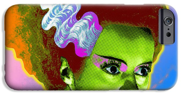 Graphic Design iPhone Cases - The Monsters Bride iPhone Case by Gary Grayson