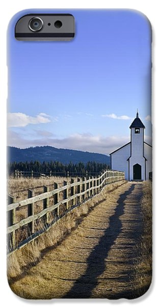 The Morley Church, Alberta, Canada iPhone Case by Philippe Widling