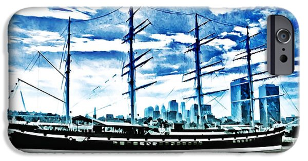 Wooden Ship iPhone Cases - The Moshulu iPhone Case by Bill Cannon