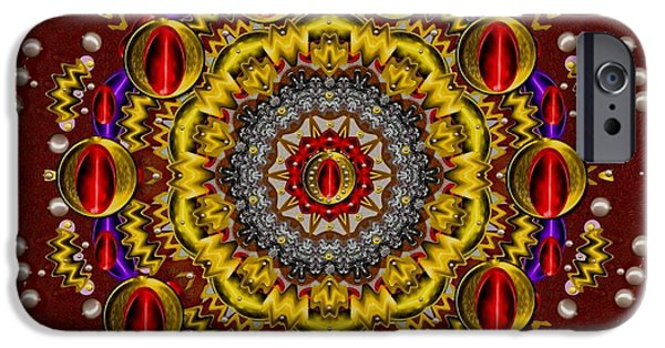 Contemplative Mixed Media iPhone Cases - The Most Beautiful iPhone Case by Pepita Selles