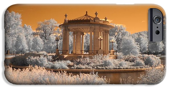 Bandstand iPhone Cases - The Muny at Forest Park iPhone Case by Jane Linders