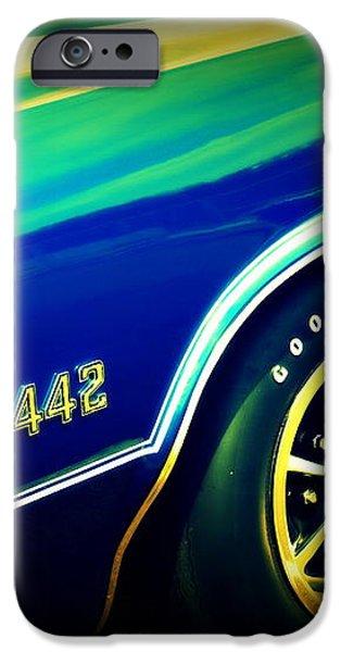 The Muscle Car Oldsmobile 442 iPhone Case by Susanne Van Hulst