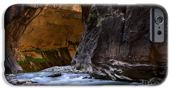 States iPhone Cases - The Narrows Time And The River Flowing iPhone Case by Bob Christopher