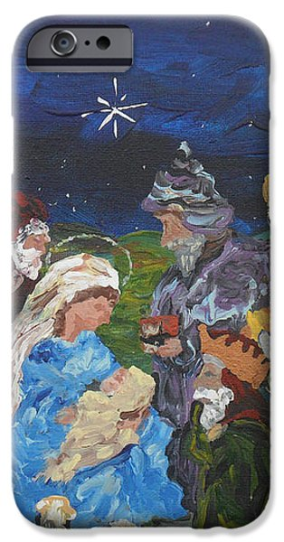 The Nativity iPhone Case by REINA RESTO