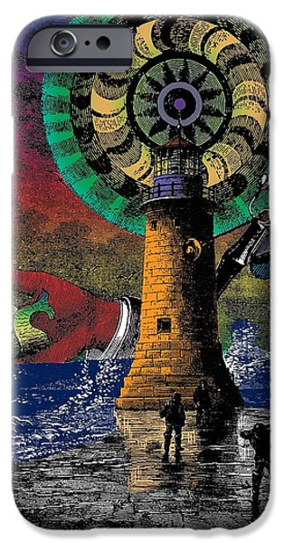Symbolism Of The Hand iPhone Cases - The New Pharos iPhone Case by Eric Edelman