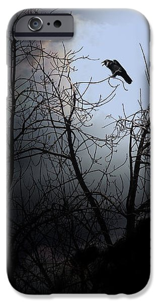 The Night The Raven Appeared In My Dream . 7D12631 iPhone Case by Wingsdomain Art and Photography
