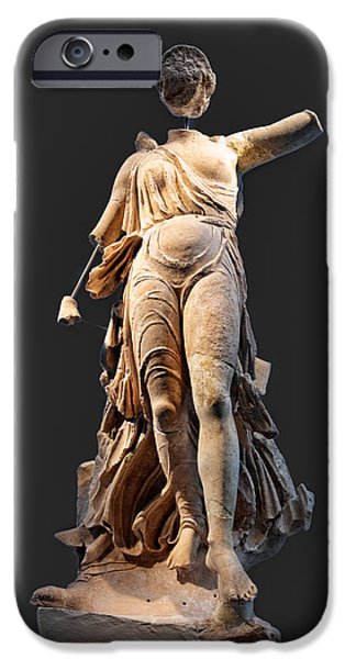 The Nike of Paeonios - Ancient Olympia iPhone Case by Constantinos Iliopoulos