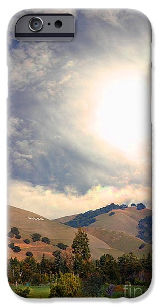 Train Town iPhone Cases - The Niles Sign in The Hills of Niles California . 7D12707 iPhone Case by Wingsdomain Art and Photography