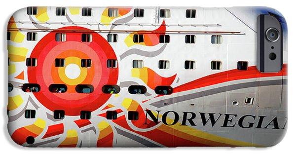 Cabin Window iPhone Cases - The Norwegian Sun Bow iPhone Case by Susanne Van Hulst