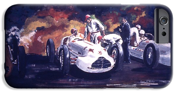 Indy Car iPhone Cases - The Novi Specials at Indy iPhone Case by Frank Hunter
