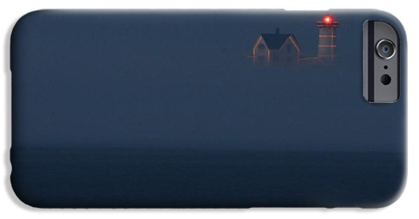 Recently Sold -  - Nubble Lighthouse iPhone Cases - The Nubble at Night iPhone Case by Lori Deiter