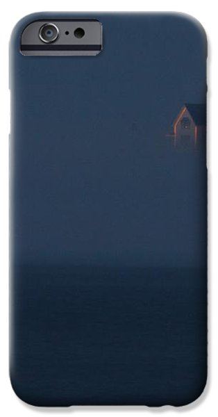 The Nubble at Night iPhone Case by Lori Deiter