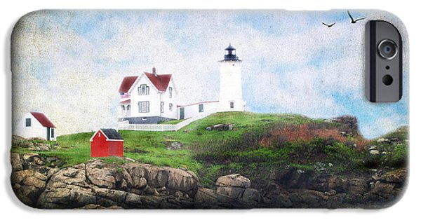 Nubble Lighthouse iPhone Cases - The Nubble iPhone Case by Darren Fisher
